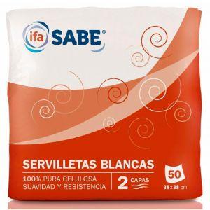 Servilleta blanca ifa sabe 2capasx50unds
