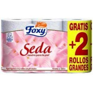 Papel higienico seda foxy 4+2 rollos
