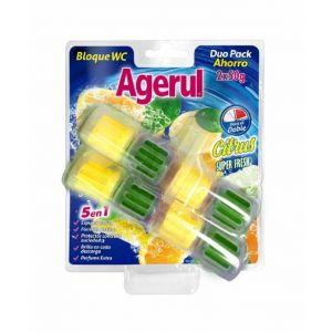 Limpiador wc agerul citrus super fresh pack ahorro de 2 udes. x50gr