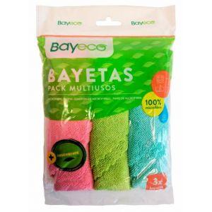 Bayeta 100% microfibra multiusos bayeco 3ud
