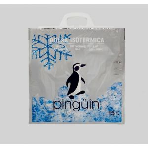 Bolsa isotermica metalica pinguin estrella 15l