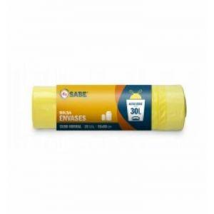 Bolsa de basura amarilla ifa sabe 55x60 30 l 30ud