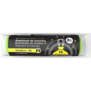 Bolsa de basura repelente insectos plasbel 55x60 30l 15ud