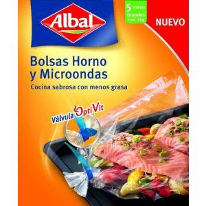 Bolsa de horno y microondas albal 5 ud