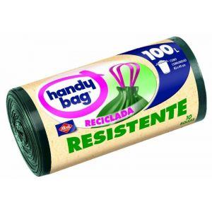 Bolsa de basura reciclada handy bang 100 l 10 ud