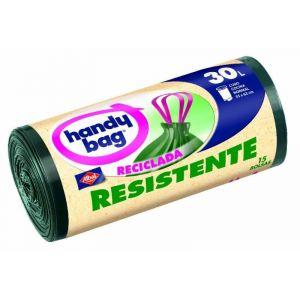 Bolsa de basura reciclada handy bang 30 l 15 ud