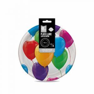 Plato party futbol maxi 23cm 6ud