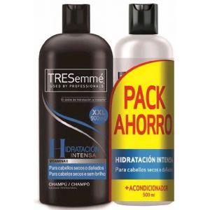 Champú hidrantación intensa para cabello secos o dañados 900 ml + acondicionador tresemmé 500 ml