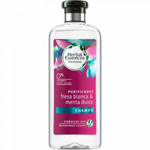 Champu bio renew fresa blanca y menta dulce  herbal essences 400ml