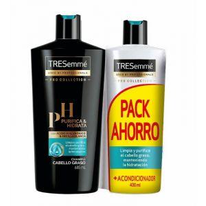 champú y acondicionador purifica e hidrata tresemme pack 685+400ml
