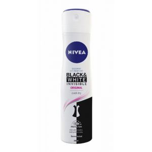Desodorante spray black & white invisible original nivea 200 ml