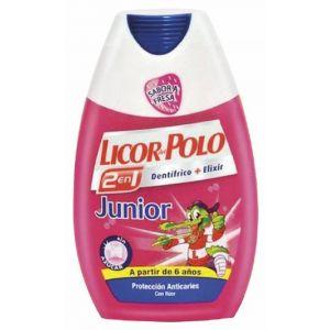 Pasta dentífrica elixir infantil fresa para dientes de leche de 1 a 6 años 2 en 1 licor del polo 75