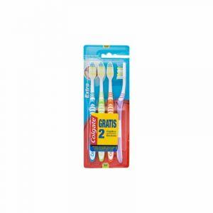 Cepillo de dientes medio extra clean colgate pack 2+2