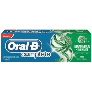 Pasta dentífrica + enjuague bucal  complete limpieza refrescant 75 ml oral-b