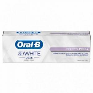 Pasta dentífrica 3d white luxe efecto perla  75ml oral-b