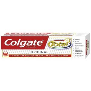 Pasta dentífrica total original colgate 2 tubos de 75 ml