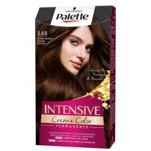 Coloración permanente textura crema de color nº 3,65 castaño chocolate palette intensive 115 ml