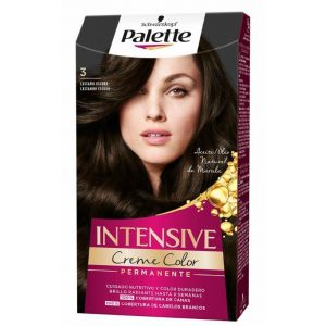 Coloración permanente textura crema de color nº 3 castaño oscuro palette intensive 115 ml