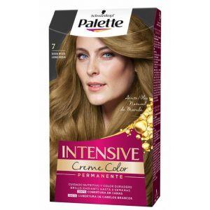 Coloración permanente rubio medio toffee en crema de color nº 7 palette intensive 115 ml