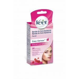 Cera depilatoria fria banda facial piel normal veet 20 uds