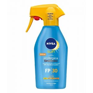 Protector solar fp 30 spray pistola hidratante protege y broncea protección alta nivea 300ml