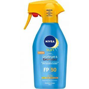 Bronceador spray f50  nivea  protege y broncea 300ml