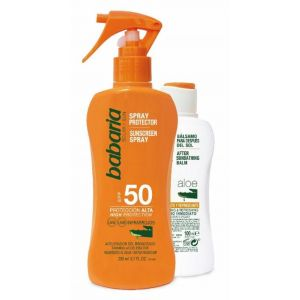 Pack bronceador ( 200ml)+aftersun (100ml) f50 babaria spray 300ml
