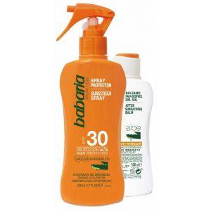Protector solar+aftersun spray ip30 babaria 200+100ml