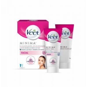 Crema depilatoria facial veet p2x 50ml