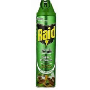 Insecticida hogar e interiores raid aerosol 600ml