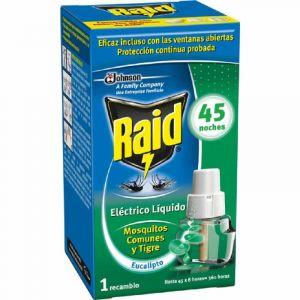 Insecticida electrico eucalipto raid recambio 45noches