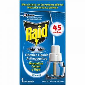 Insecticida electrico raid recambio 45 noches