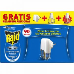 Insecticida electrico raid apa+2rec 90 noches