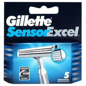 Recambio de maquinilla de afeitar para hombre  sensor excel 5recambios gillette
