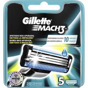 Recambio de maquinilla de afeitar para hombre  mach3 5recambios gillette