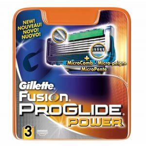 Recambio de maquinilla de afeitar para hombre fusion proglide power - 3 unidades gillette