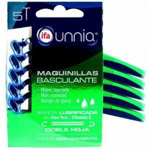 Maquinilla basculante ifa unnia 2 hojas 5 uds