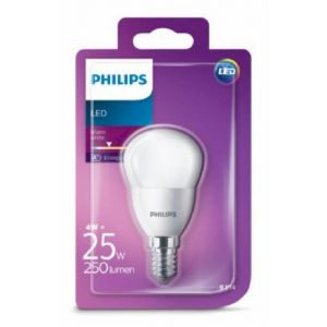 Bombilla led esfera calido philips e14 25w