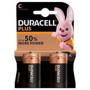 Pilas alcalina  duracell c lr14 2ud