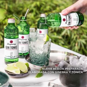 Ginebra tanqueray 70cl+2 tonica zero on pack
