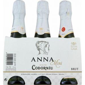 Cava codorniu anna benjamin pack de 3 botellas de 20cl