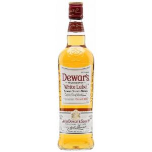 Whisky dewars  white label botella de 1l