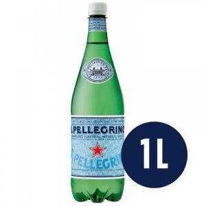 Agua mineral con gas san pellegrino botella 1l
