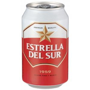 Cerveza estrella del sur lata 33cl