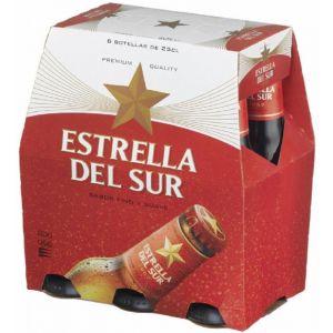 Cerveza estrella del sur p6x25cl