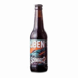 Cerveza artesanal schwarz rubens botella 33cl