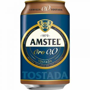 Cerveza 0,0% amstel oro lata 33cl