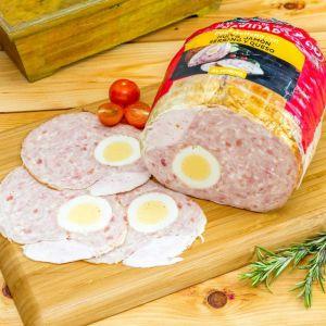 Pollo relleno de queso, huevo y jamón la carloteña al corte