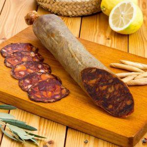 Chorizo ibérico cular bellota natural nieto martín al corte