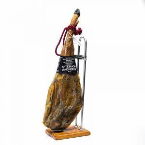 Jamón cebo 50% ibérico artesanos jamoneros +24 meses pza 7,5 a 8k